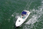 Sport Fishing Boat Overhead View — Stock Photo