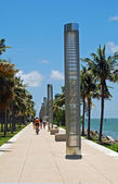 Southpointe Park Seawall Promenade — Stock Photo