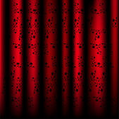 Beautiful pattern curtains red. Vector — Stock Vector