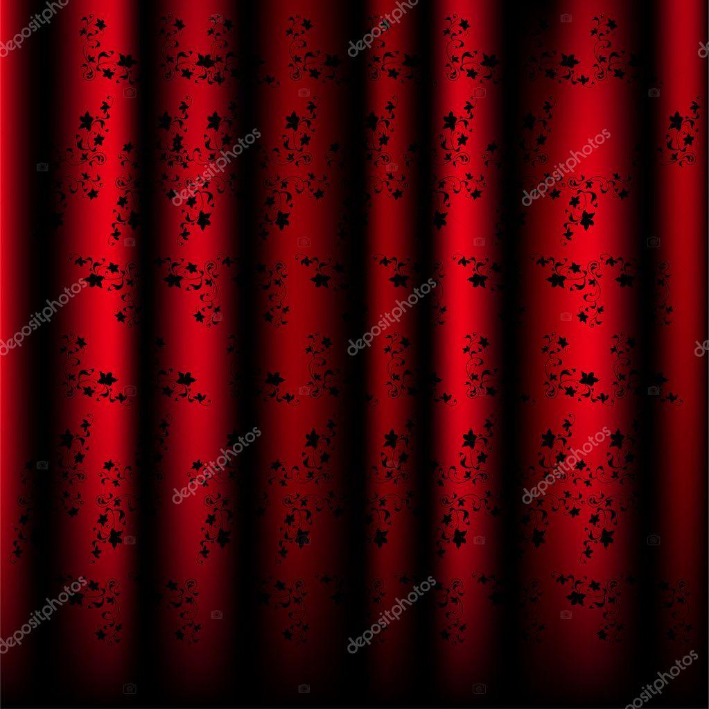 sch ne muster vorh nge rot vektor stockvektor tratatushki 3492237. Black Bedroom Furniture Sets. Home Design Ideas
