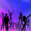 Crowd on dance of Vector illustration — Stock Vector
