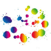 Multi Colored blots on the white background — Stock Vector