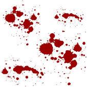 Blood red splatters vector illustration — Stock Vector