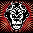 Gorilla king of monkeys.Vector - Stock Vector