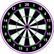 Classical darts with sectors and figures.Vector — Stock Vector