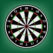 Dartboard accurate numbers on a background. - Stock Vector