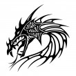 Tattoo draak vector — Stockvector