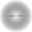 Round halftone pattern (scalable) — Stock Vector