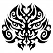 Tribal tattoo face vector — Stock Vector