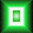 Royalty-Free Stock Vector Image: Matrix input green. Vector