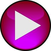 Play pink shiny button. Vector illustration — Stock Vector