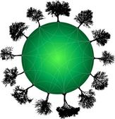 Tree planet green. Vector — Stock Vector