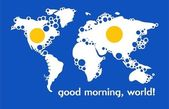 World good morning.Vector — Stockvektor