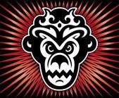Gorilla king of monkeys.Vector — Stock Vector
