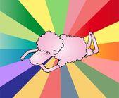 Sheep rest. Vector — Stock Vector