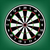 Dartboard accurate numbers on a background. — Stock Vector