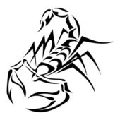 Black scorpion, vectorillustratie tattoo — Stockvector