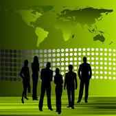 Business team . Vector — Stock Vector