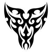 Face tattoo tribal vector — Stock Vector