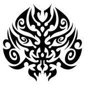 Tribal tattoo face vector — Stock Vector