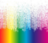Abstract Multicolor Dots Background (Vector) — Vector de stock