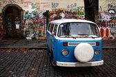 Blue Van — Stock Photo