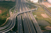 Aerial view of Bangkok Traffic Interchange — Stock Photo