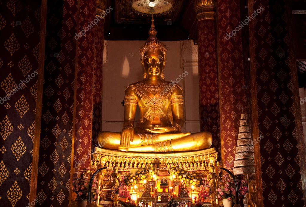 An ancient Buddha image in Thailand  Stock Photo #3421459
