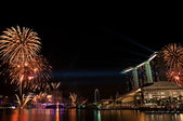 Fireworks Display, Singapore — Stock Photo