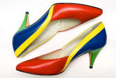 Colorful shoes — Stock fotografie
