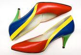 Färgglada skor — Stockfoto