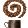 Stock Photo: Coffee swirl