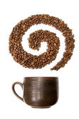 Coffee swirl — Stock Photo
