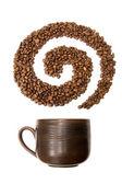 Káva spirála — Stock fotografie