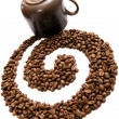 Coffee swirl — Stockfoto #3454128