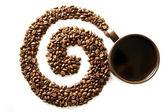 Coffee swirl — Stock Photo