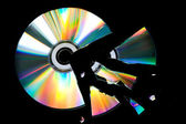 Broken CD — Stock Photo