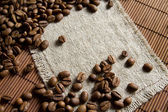 Coffee grains background — Stock Photo
