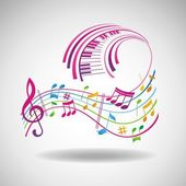 Colorful music background. — Stock Photo