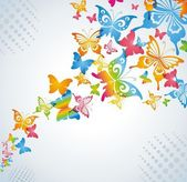 Colorful background with butterfly. — Stock Photo