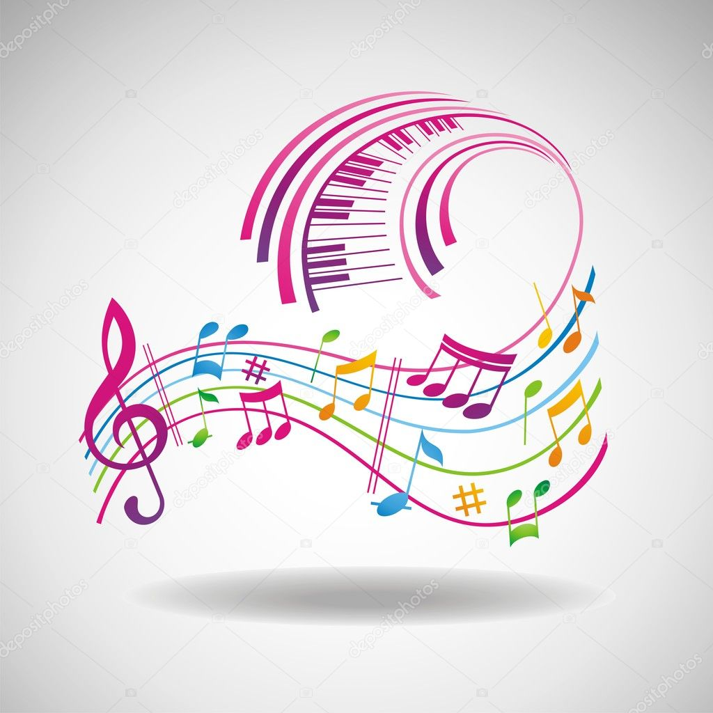 Colorful music background.  Stock Photo #3426858