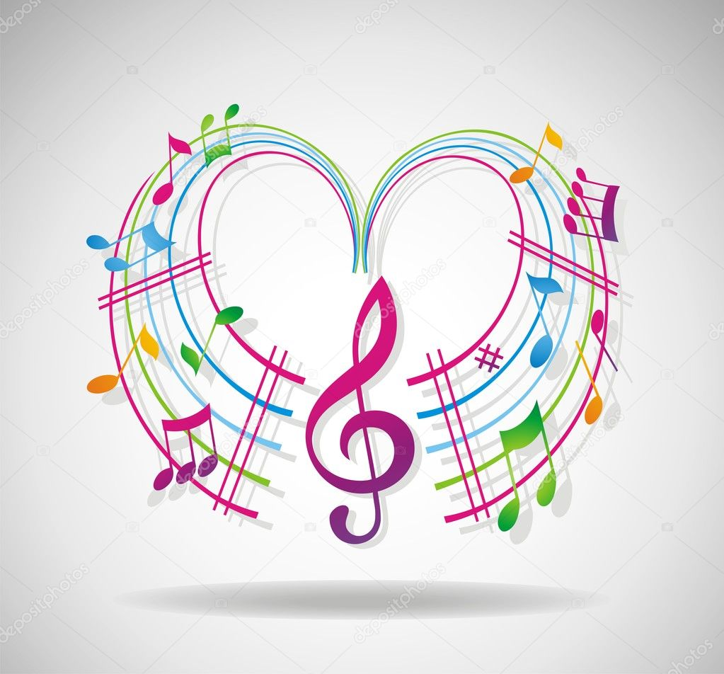 Colorful music background.  — Stock Photo #3426883