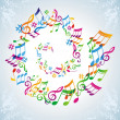 Colorful music background. - Stock Vector
