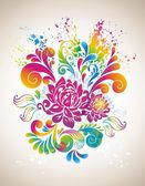 Colorful flower background. — Vector de stock