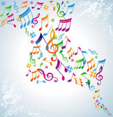 Colorful music background. — Stock Vector