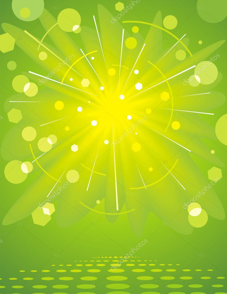 Green glossy background. — Stock Vector © nuraschka #3546500