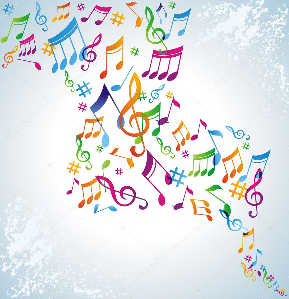 Colorful music background. — Stock Vector #3546570
