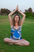 Yoga de embarazo — Foto de Stock