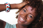 African woman with bangles — Stock Photo
