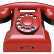 Red retro telephone — Stock Photo